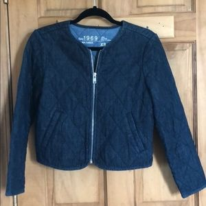 Gap Quilted jean jacket